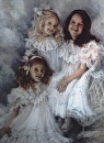 Christina, Courtney, and Caroline by Susan S. Birdwell Oil ~ 40 x 30