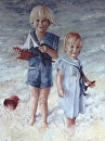 Christian and Curran by Susan S. Birdwell Oil ~ 40 x 30