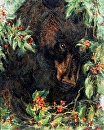 Bear with Cherries by Susan S. Birdwell Oil ~ 20 x 16