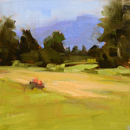 Red Tractor Rolls On - Oil