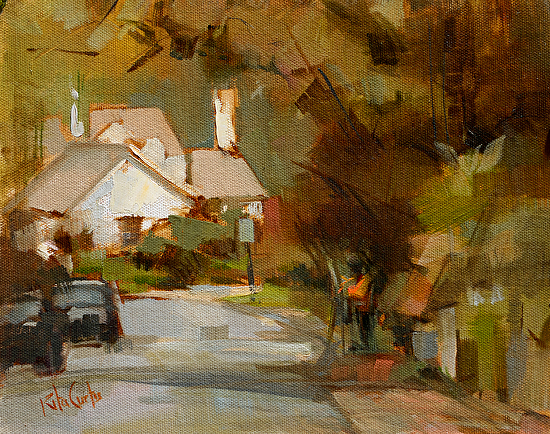 Painting Dickeyville - Oil