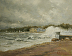 Sandy Arrives in Bayville 10/29/12 by Paul Bachem Oil ~ 11 x 14