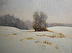 Heavy Snow by Paul Bachem Oil ~ 18 x 24 1/4