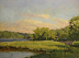 Late Day Sun on Cold Spring Harbor 080412 by Paul Bachem Oil ~ 9 x 12