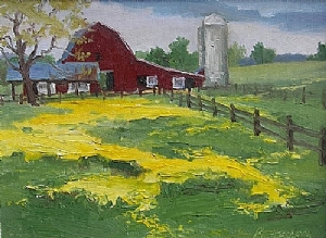"Spring Wildflowers by Mike Battenberg Oil ~ 11"" x 14"""