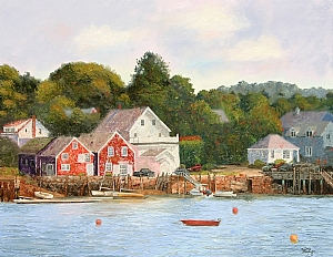 View of North Haven Island from Vinalhaven, Maine by Tommy Thompson Oil ~ 48 x 60