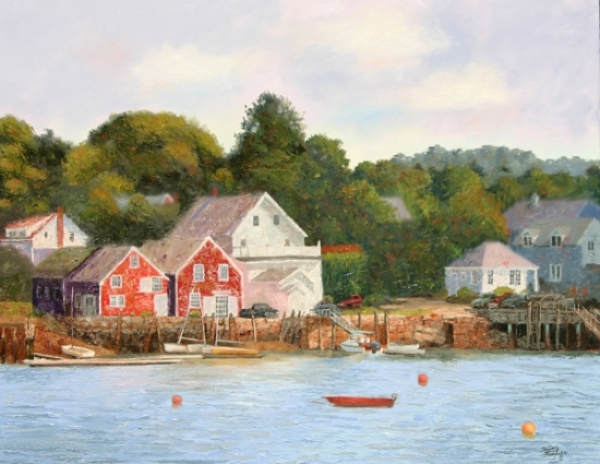 View of North Haven Island from Vinalhaven, Maine - Oil