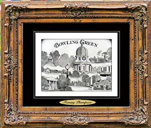 Bowling Green, Kentucky by Tommy Thompson Pencil ~ 16 x 20