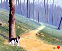 Doggone Trail by Tommy Thompson Oil ~ 20 x 24