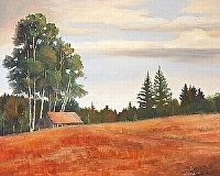 Maine Manor by Tommy Thompson Oil ~ 24 x 30