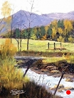 Carolina Morning by Tommy Thompson Oil ~ 16 x 12
