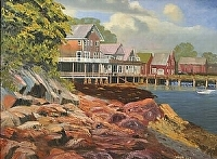 North Haven Harbor by Tommy Thompson Oil ~ 30 x 40
