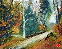 Road to Vermont by Tommy Thompson Oil ~ 8 x 10
