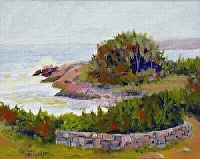 Atlantic at Narragansett by Tommy Thompson Oil ~ 8 x 10