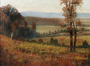 Cloverdale Rolling Meadow by Tommy Thompson Oil ~ 18 x 24