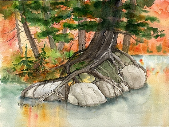 Autumn Paddle - Watercolor