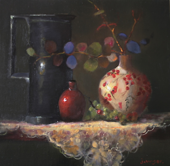 Pottery in Red - Oil