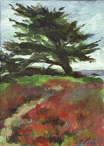 Tree Sculpture by Sea Winds by Sarah Madsen Acrylic ~ 7 x 5