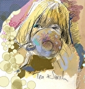 Teatime Gal by Sarah Madsen Digital Art & Traditional ~  x