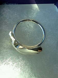 Heavy Silver Organic Flowing Ring.. View 2 by Sarah Madsen Jewellery ~  x