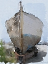 Old Boat at Moss Landing,CA by Sarah Madsen Digital Art & Photography ~ 14 x 11