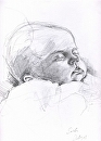 In Sleep by Sarah Madsen Pencil ~ 11 x 10