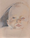 Study of Young Baby by Sarah Madsen Pastel ~ 14 x 11