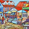 St. Andrews By the Sea Market - Acryllic16x20 Framed