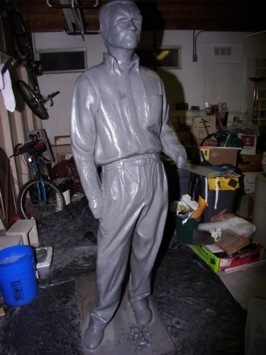 closing in on the finish of Joe #3 by charles peck Clay ~ 6ft 4in x