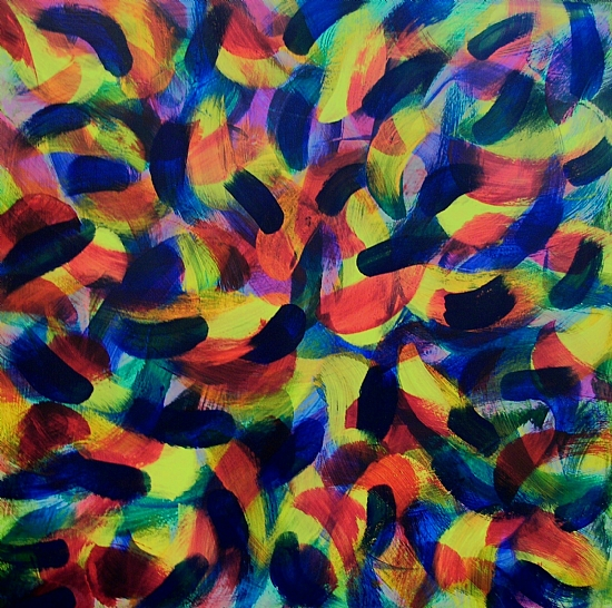 Gestural Gestalt Gone Gonzo by charles peck Acrylic ~ 24 x 24
