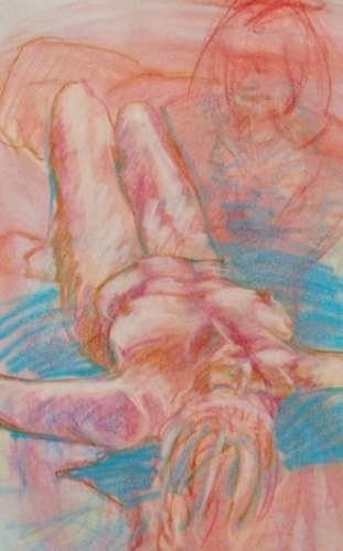 warm up close up   3-20 by charles peck Pastel ~ 24 x 18
