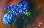 Blue Contradiction by Mary Aslin Oil ~ 13 x 22