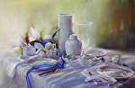 Daylight Soiree' by Mary Aslin Pastel ~ 15 x 23