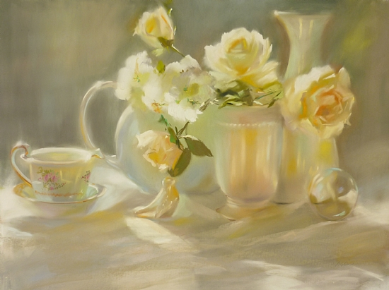 Pearlescent by Mary Aslin Pastel ~ 18 x 24