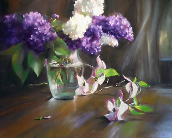 Scent of Spring Breezes by Mary Aslin Pastel ~ 16 x 20
