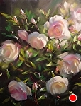 Morning Roses by Mary Aslin Pastel ~ 12 x 9