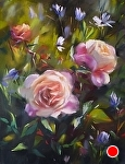 Double Delight by Mary Aslin Pastel ~ 12 x 9