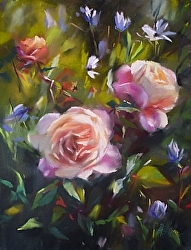 "Mary Aslin, ""Double Delight"", Pastel"