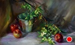 Apples by Mary Aslin Pastel ~ 12 x 20
