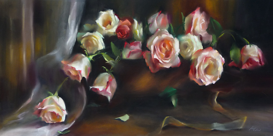 Quiet Glory by Mary Aslin Pastel ~ 12 x 24