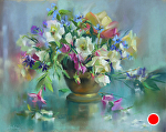 Misty Spring by Mary Aslin Pastel ~ 14 x 18