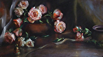 Rosa A Capella by Mary Aslin Pastel ~ 12 1/4 x 22