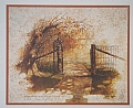 emmerts gate by Tom Heflin lithograph print ~ 13 x 16