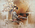 recital by Tom Heflin lithograph print ~ 16 x 20