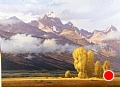 autumn tetons by Tom Heflin Oil ~ 36 x 48