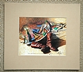 monicas quilt by Tom Heflin lithograph print ~ 8 x 10