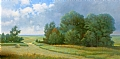 after the rain/ emmerts north pasture by Tom Heflin Acrylic ~ 24 x 48