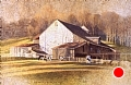 chads ford barn by Tom Heflin Acrylic on Crushed Paper ~ 24 x 36