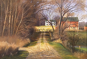 lane to emmerts farm by Tom Heflin Acrylic ~ 24 x 30