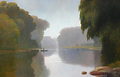 misty kishwaukee by Tom Heflin Oil ~ 20 x 30